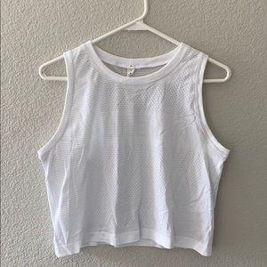 brand new white lululemon tank top